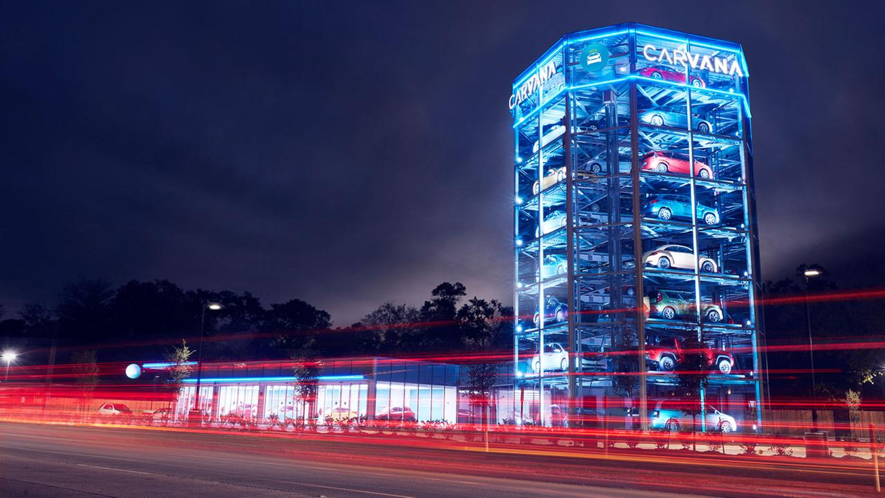 A fully automated car vending machine is now open off of the Katy Freeway.