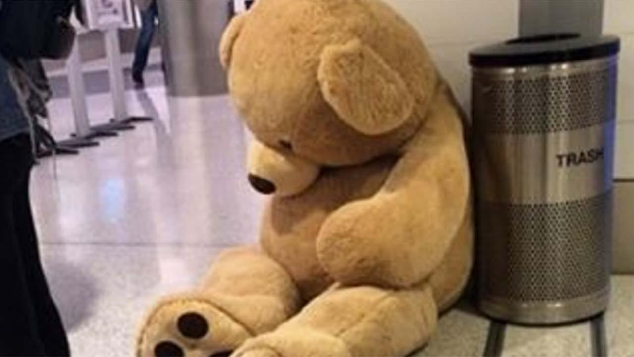 Massive teddy bear abandoned at LAX was stunt, TSA says