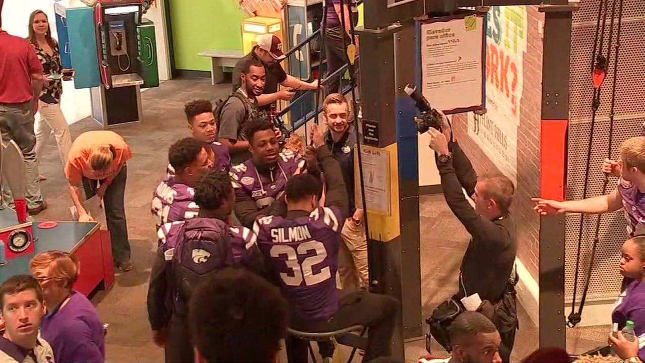 Teams from the Texas Bowl matching up first at Children's Museum