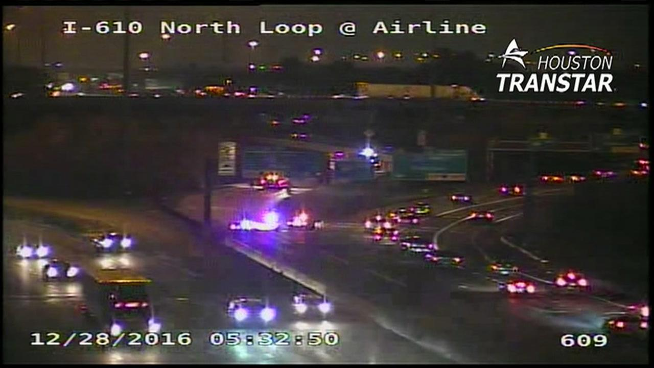 I-45 NB ramp from 610 N Loop reopens after crash