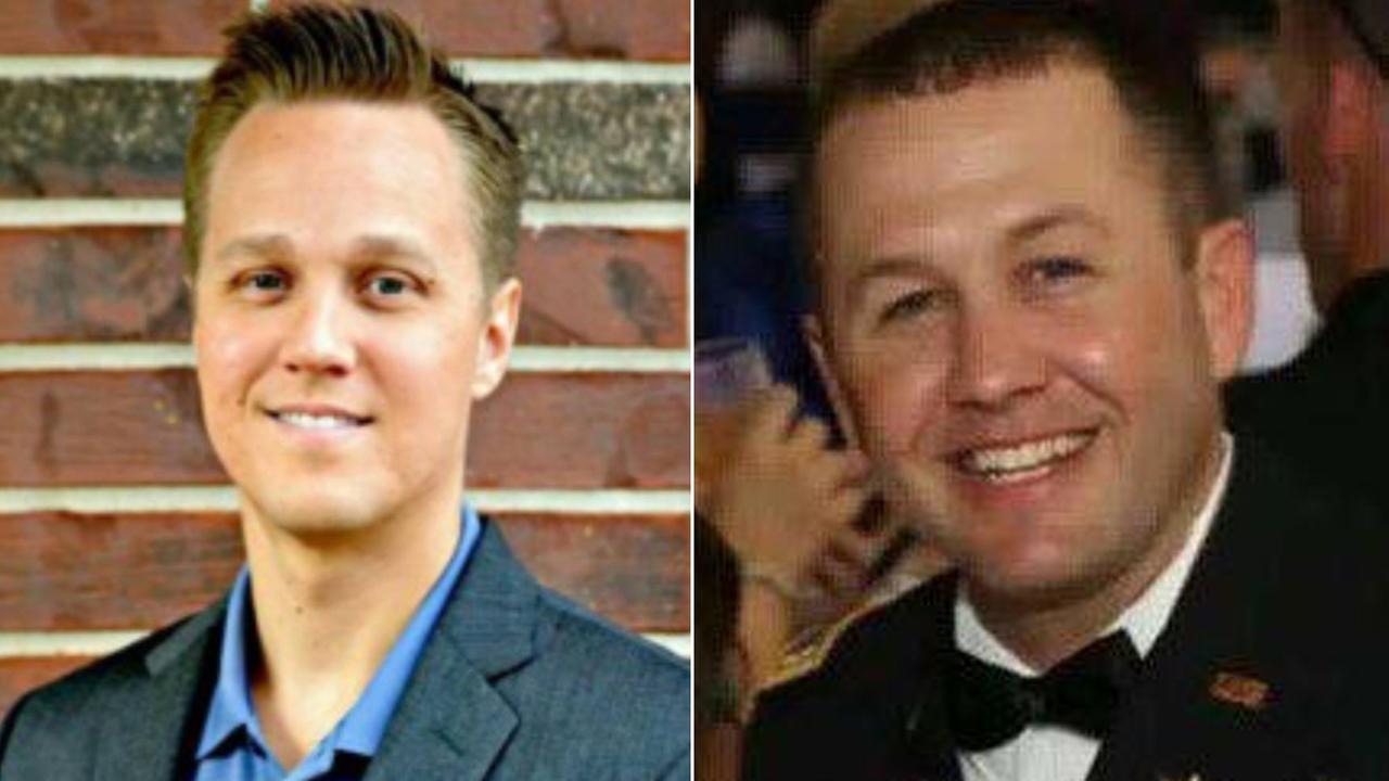 Dustin Lee Mortenson, 32, of League City (L) and Lucas Maurice Lowe, of Hardin (R).