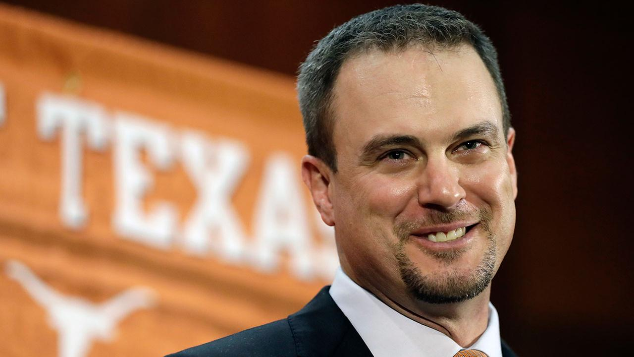 Tom Herman talks to the media during a news conference where he was introduced as Texas new head NCAA college football coach, Sunday, Nov. 27, 2016, in Austin