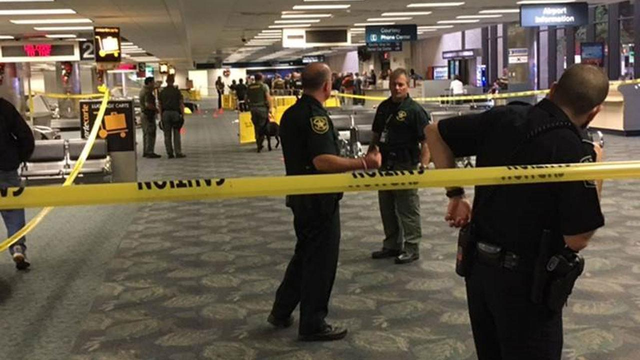 The scene inside the Fort Lauderdale airport following Fridays shooting rampage.