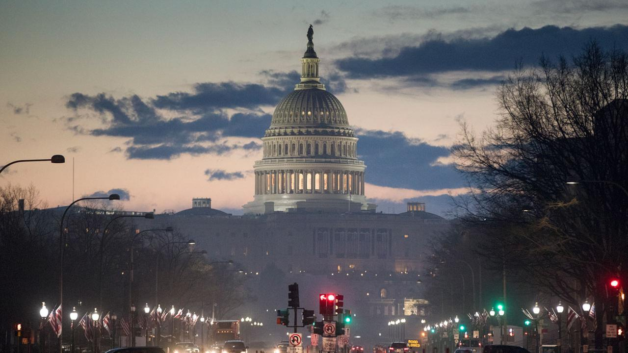 The Capitol in Washington is seen at dawn, Wednesday, Jan. 18, 2017, as the city prepares for Fridays inauguration of Donald Trump as president.