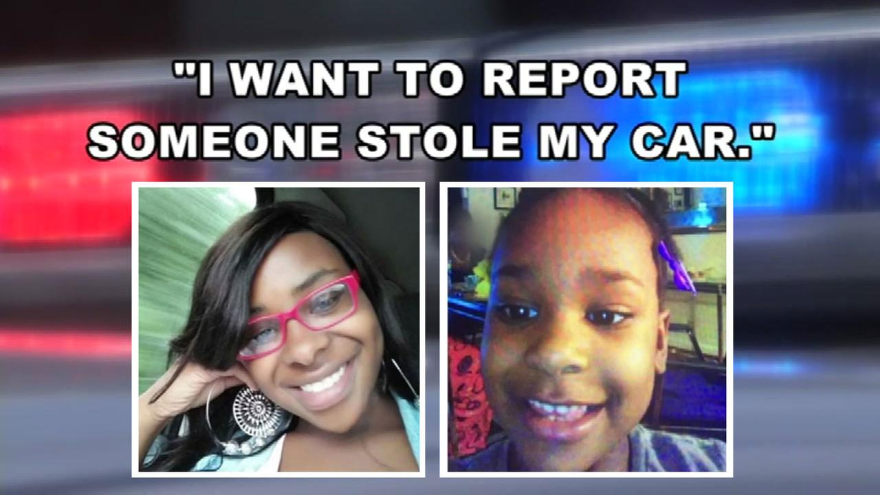 Woman reports missing child to find stolen car
