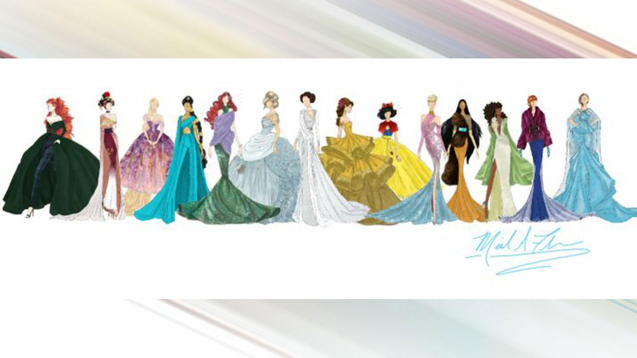 Designer unveils sketches for new Disney princess-inspired gown ...
