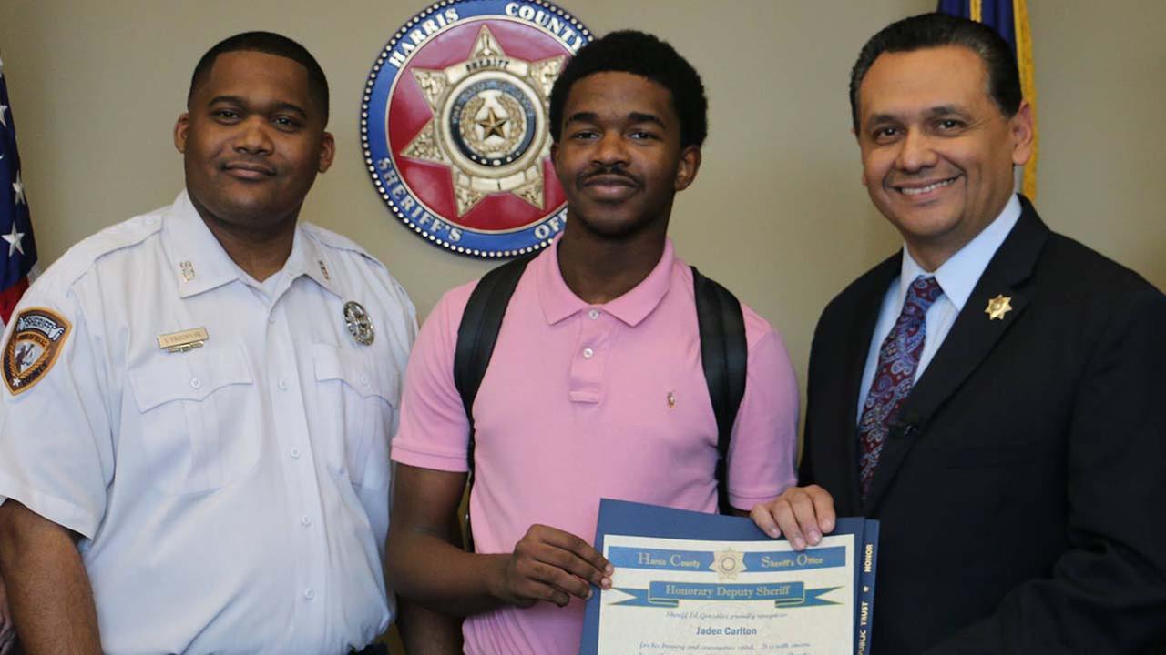 Harris County Sheriff's Office names teen honorary deputy sheriff