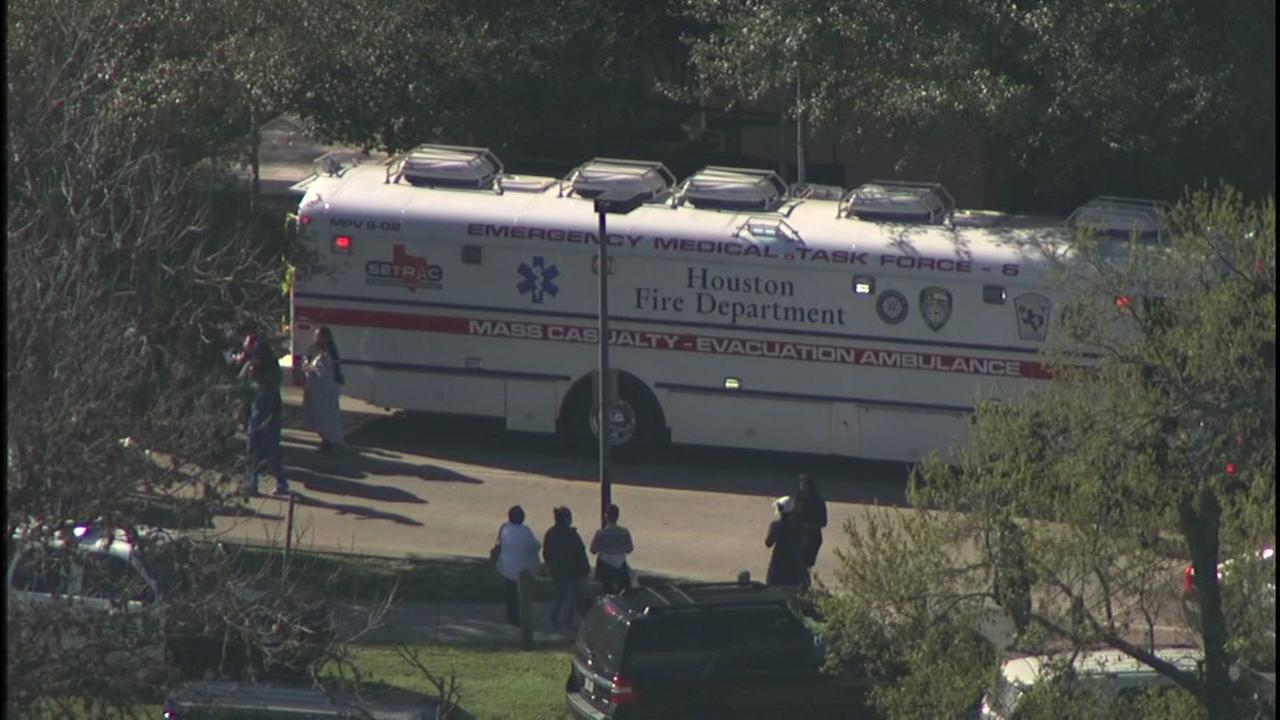 Houston Fire Department deployed the its mass causality unit as law enforcement investigated reports of an active shooter situation inside the hospital.