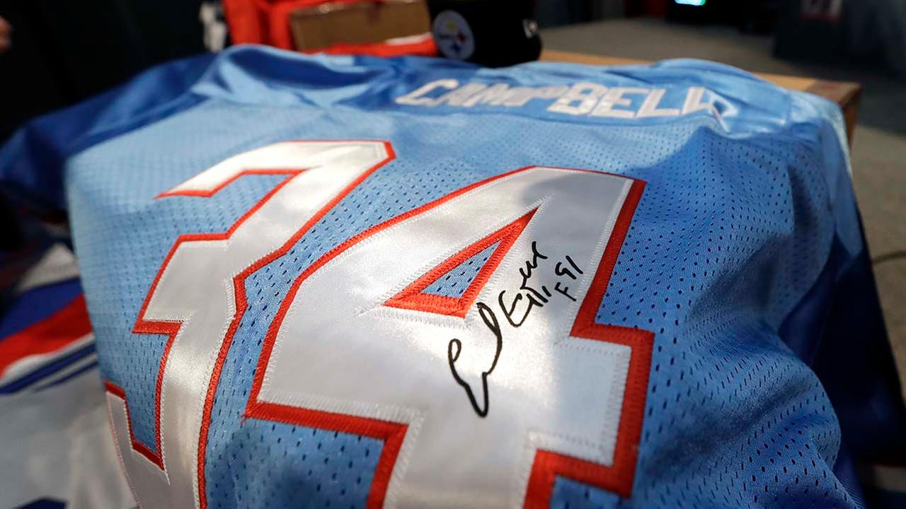 Counterfeit Houston Oilers Earl Campbell
