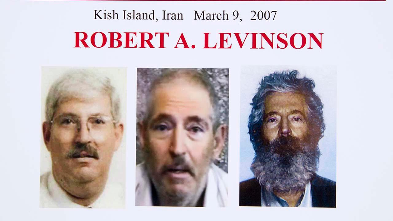 Composite image of Levinson, of how he would look like now after five years in captivity, and a picture before he was missing (AP Photo/Manuel Balce Ceneta, File)