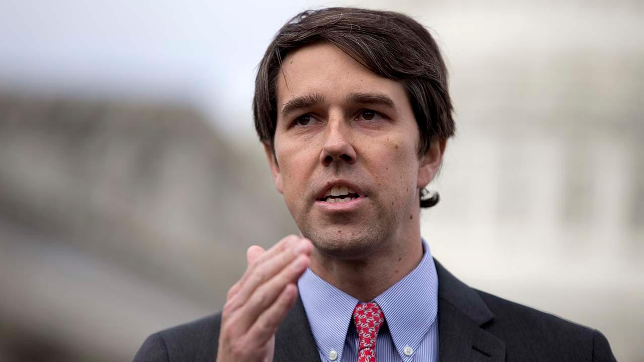 Rep. Beto ORourke, D-Texas gestures as he speaks during a news conference on Capitol Hill in Washington. (AP Photo/Carolyn Kaster)