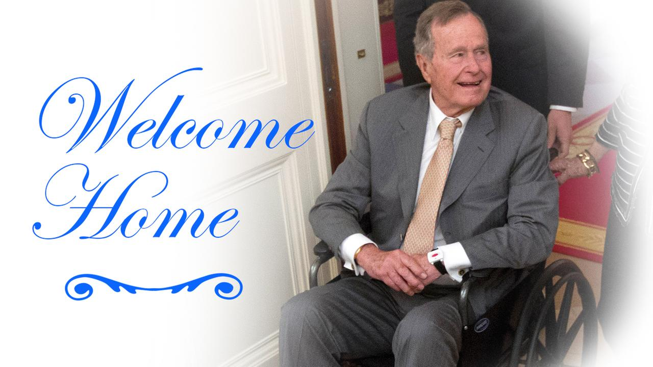 President George H.W. Bush discharged from hospital after being treated for pneumonia and bronchitis