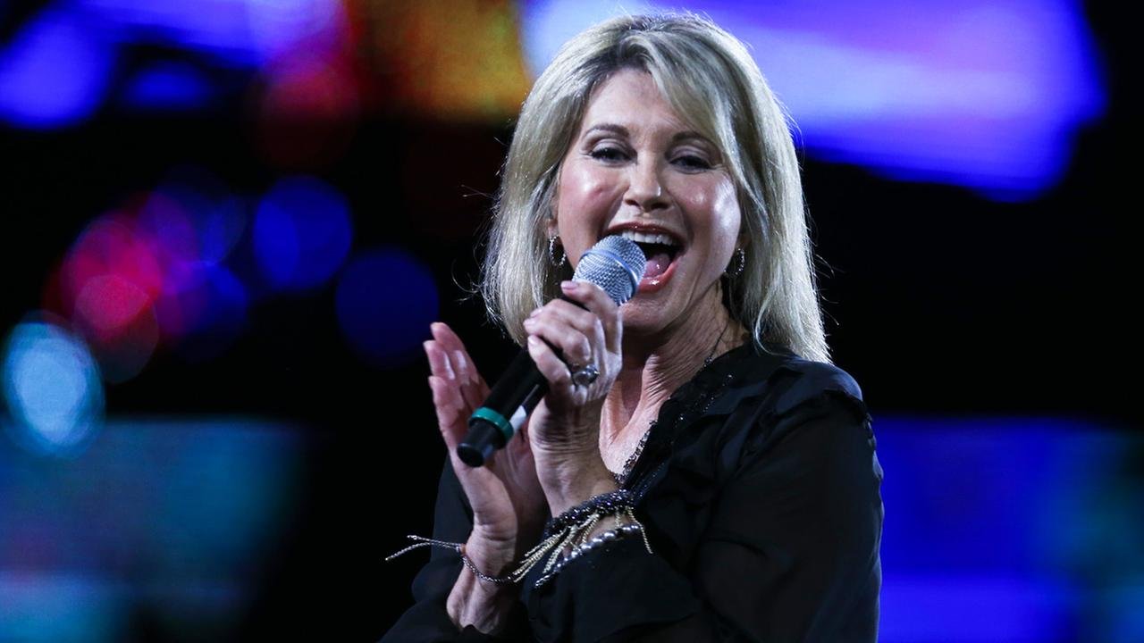 Olivia Newton John performs during the Vina del Mar International Song Festival at the Quinta Vergara in Vina del Mar, Chile, Thursday, Feb. 23, 2017.