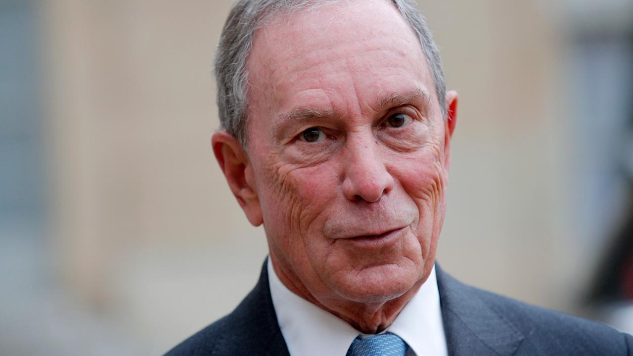 Former New York City Mayor Michael Bloomberg, speaks to media after a meeting with French president Francois Hollande, at the Elysee Palace, in Paris, France.