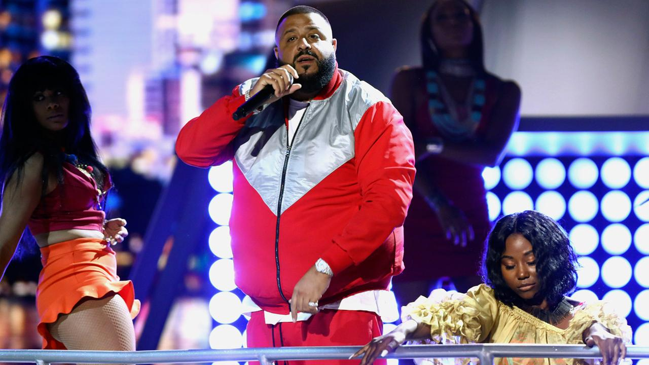 DJ Khaled performs Im The One at the BET Awards at the Microsoft Theater on Sunday, June 25, 2017, in Los Angeles.