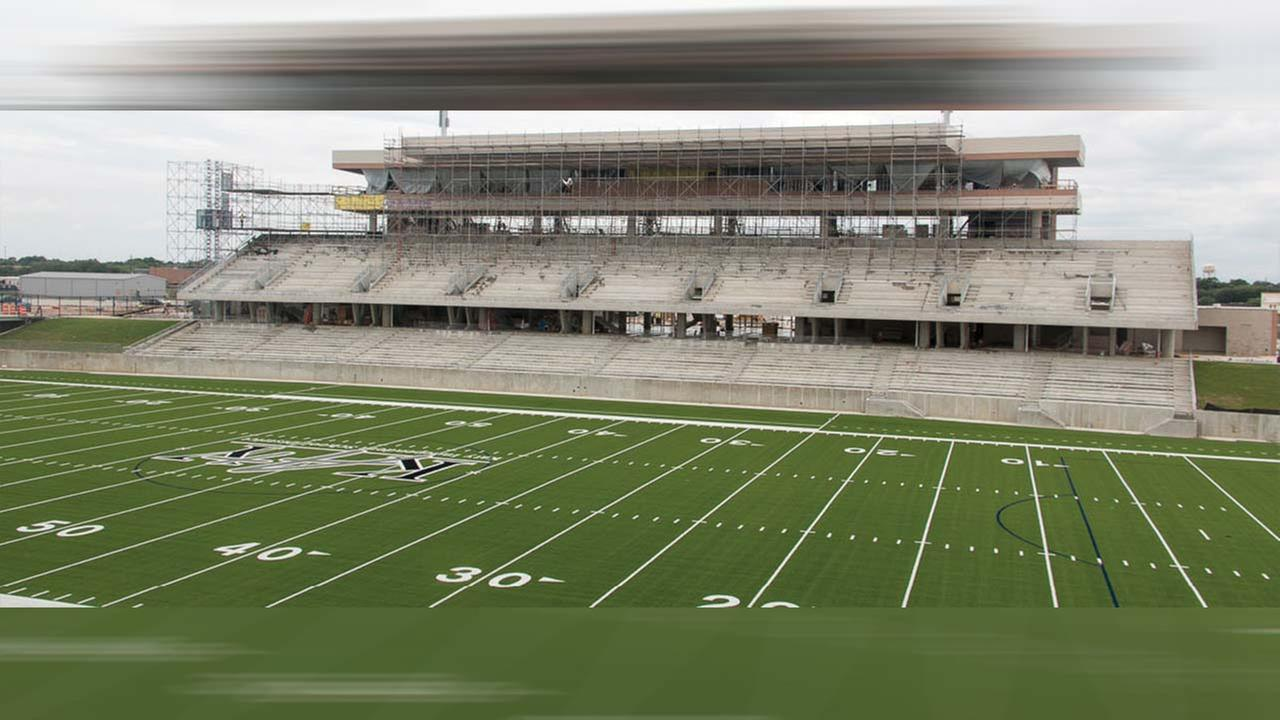 Crews on schedule to finish second KISD football stadium by August