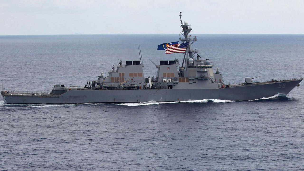 The USS John S. McCain (DDG-56) destroyer sails off the coast of Vietnam in 2011.