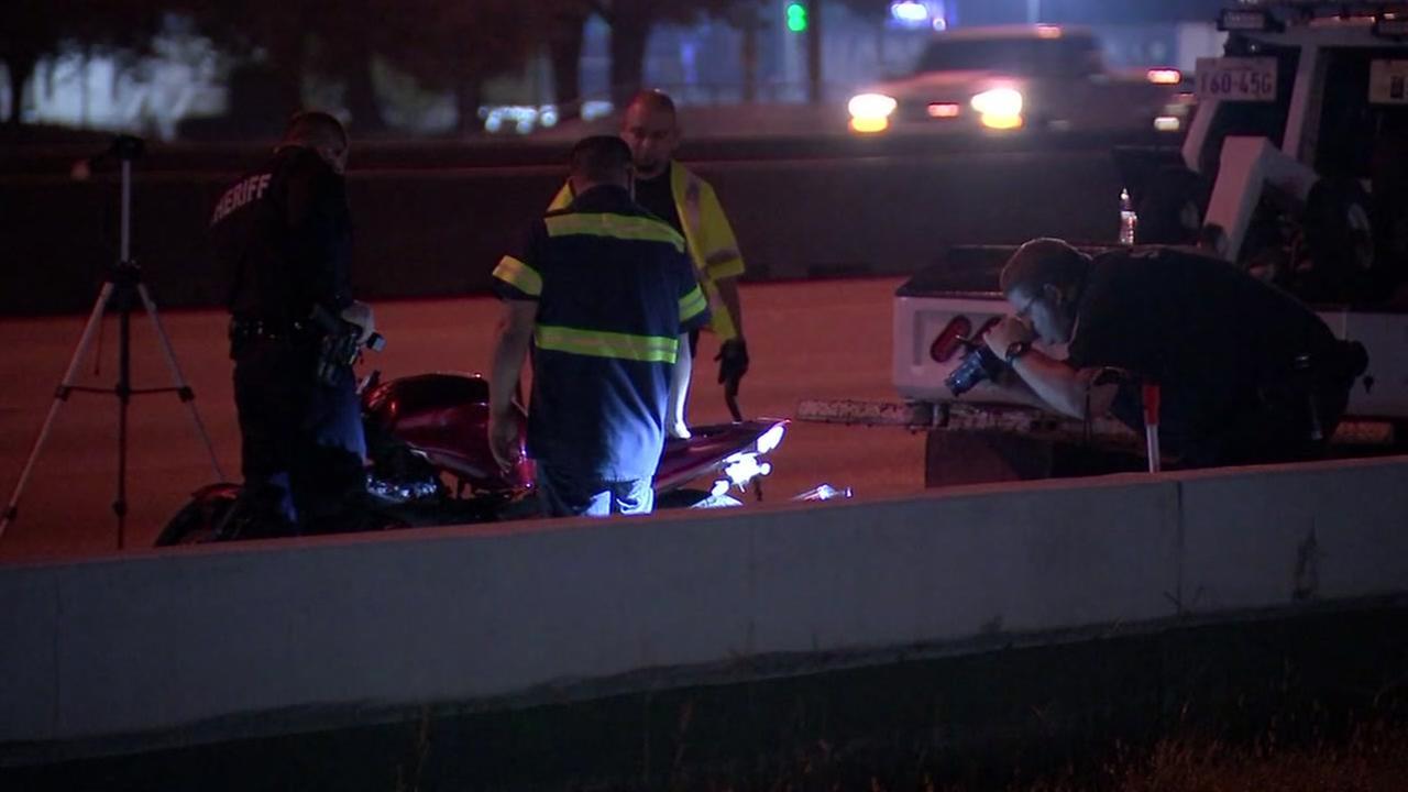 Motorcycle crash on I-45 at Greens Road