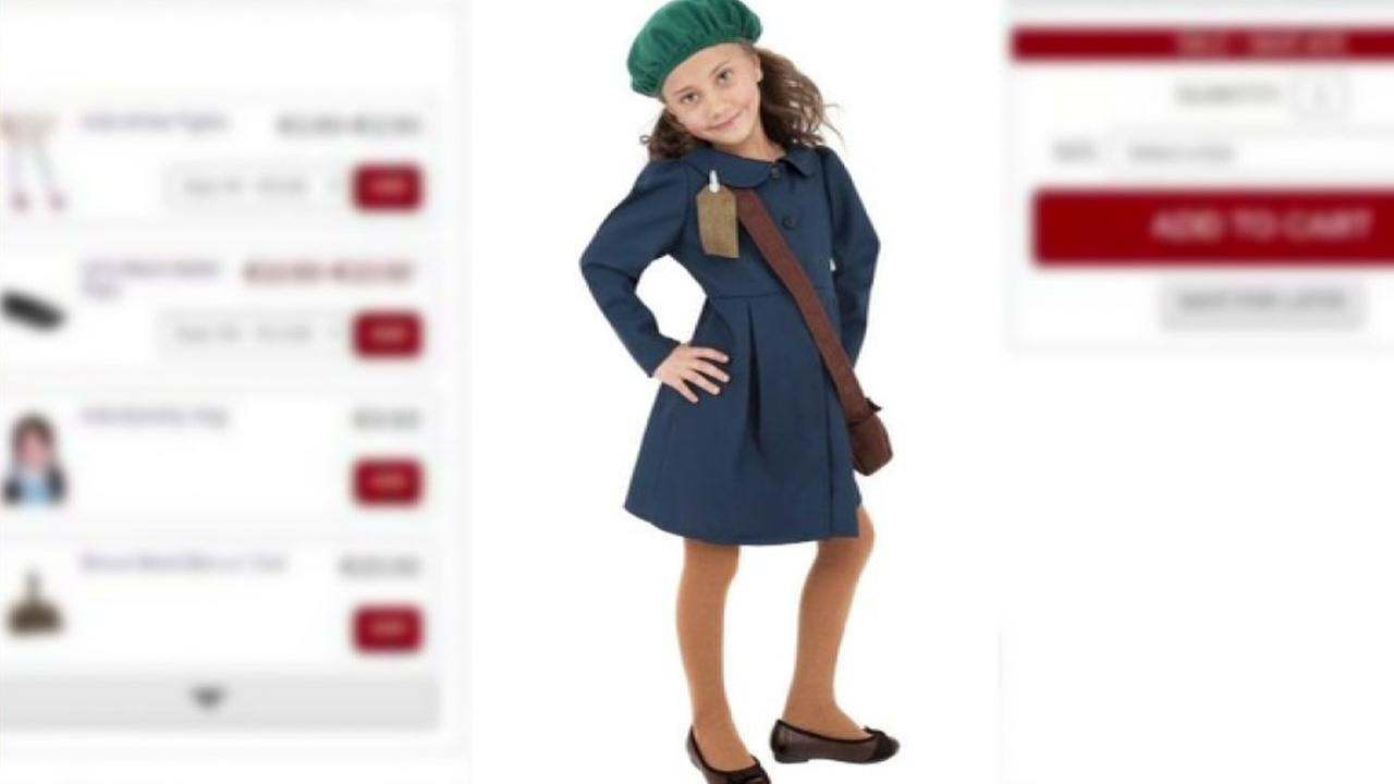 Company pulls Anne Frank costume after receiving complaints on social media.
