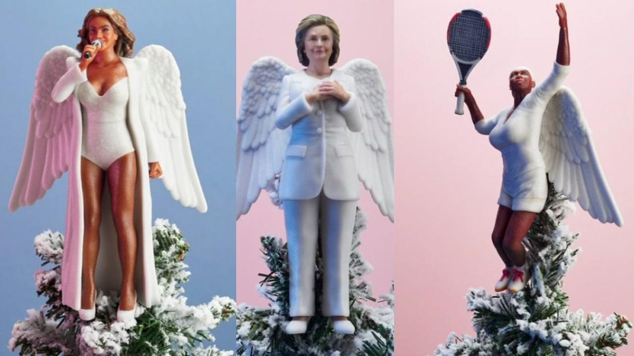 UK company makes tree toppers of your favorite female role models.