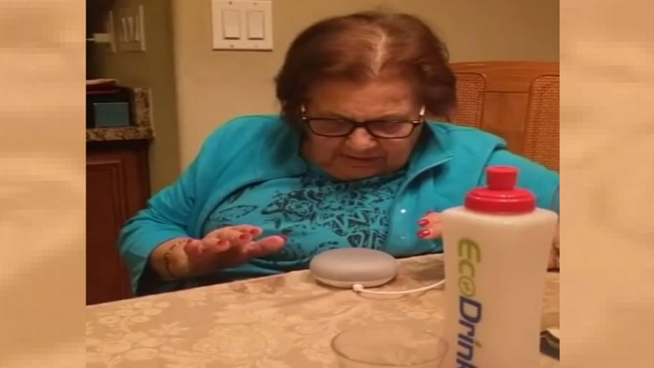 Italian grandmother goes viral after video shows her trying to talk to Google Home.