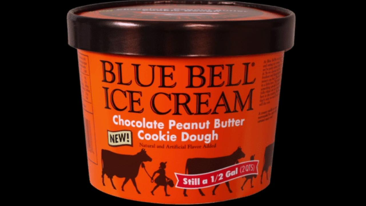 Blue Bell announces new chocolate peanut butter cookie dough ice cream.