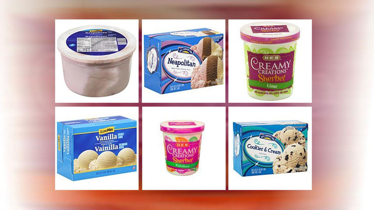 HEB ice cream recall