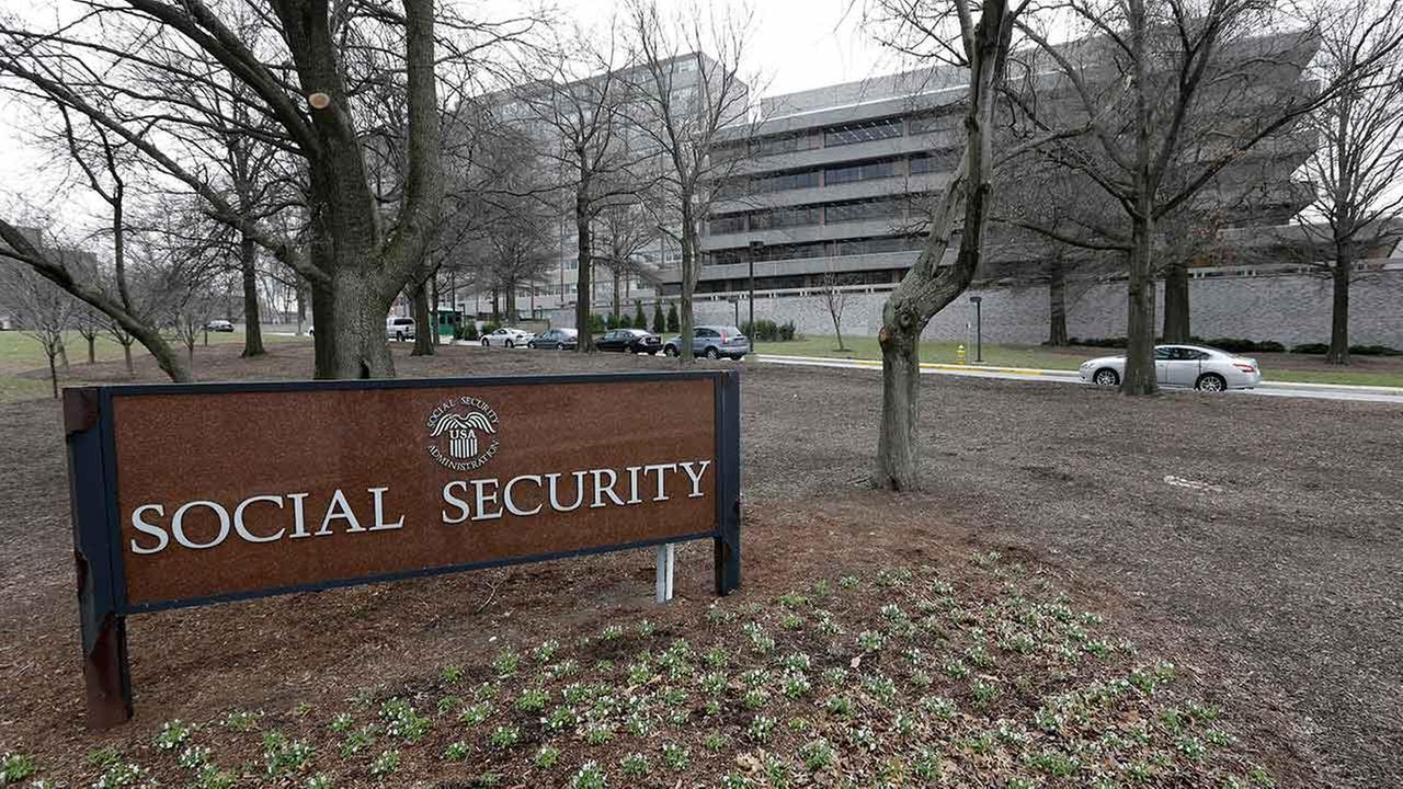 This Friday, Jan. 11, 2013 file photo, shows the Social Security Administrations main campus is seen in Woodlawn, Md.
