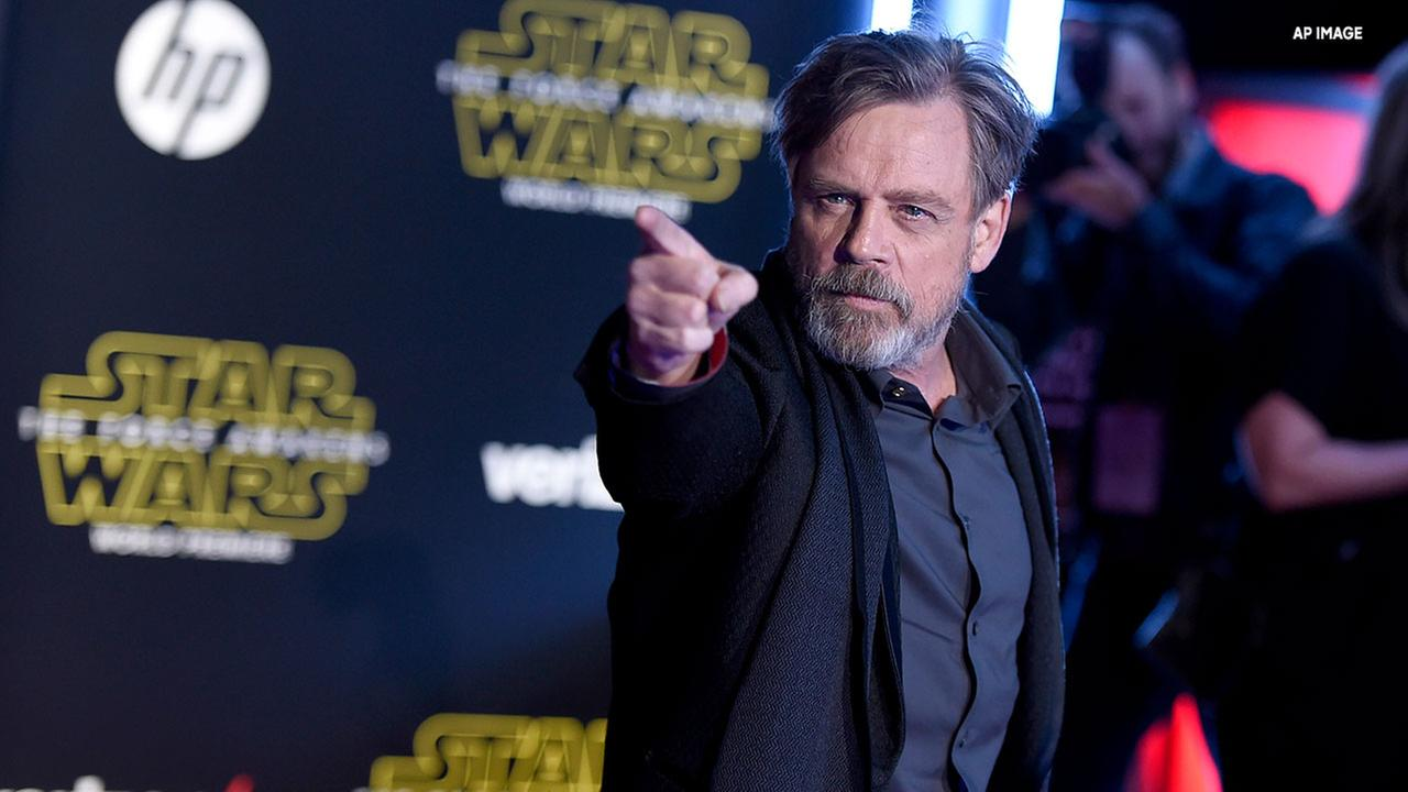 In this Dec. 14, 2015, file photo, Mark Hamill arrives at the world premiere of Star Wars: The Force Awakens at the TCL Chinese Theatre in Los Angeles