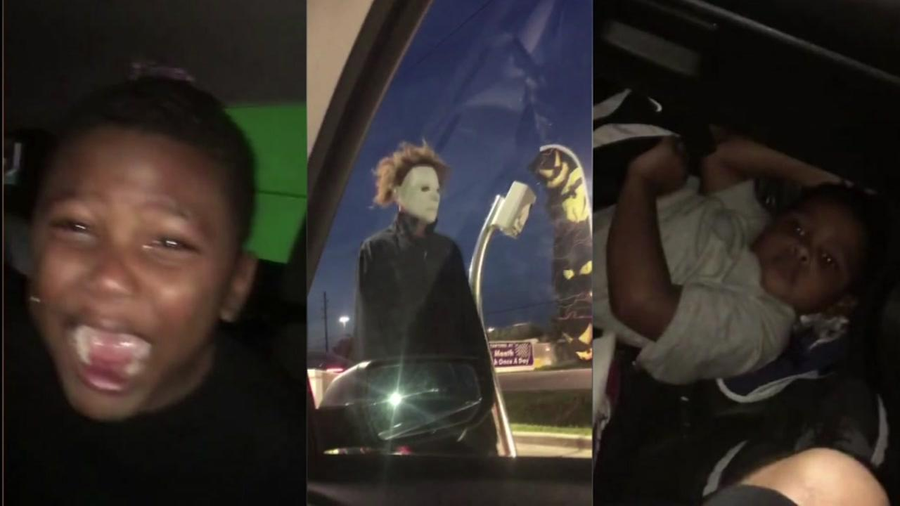 Kids' epic freakout captured at 'haunted' car wash in Texas