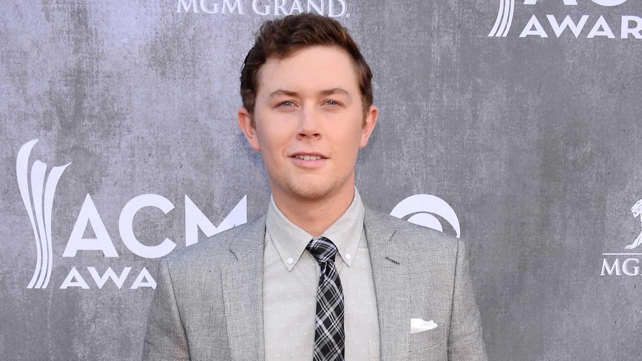 This April 6, 2014 file photo shows singer Scotty McCreery at the 49th annual Academy of Country Music Awards in Las Vegas.
