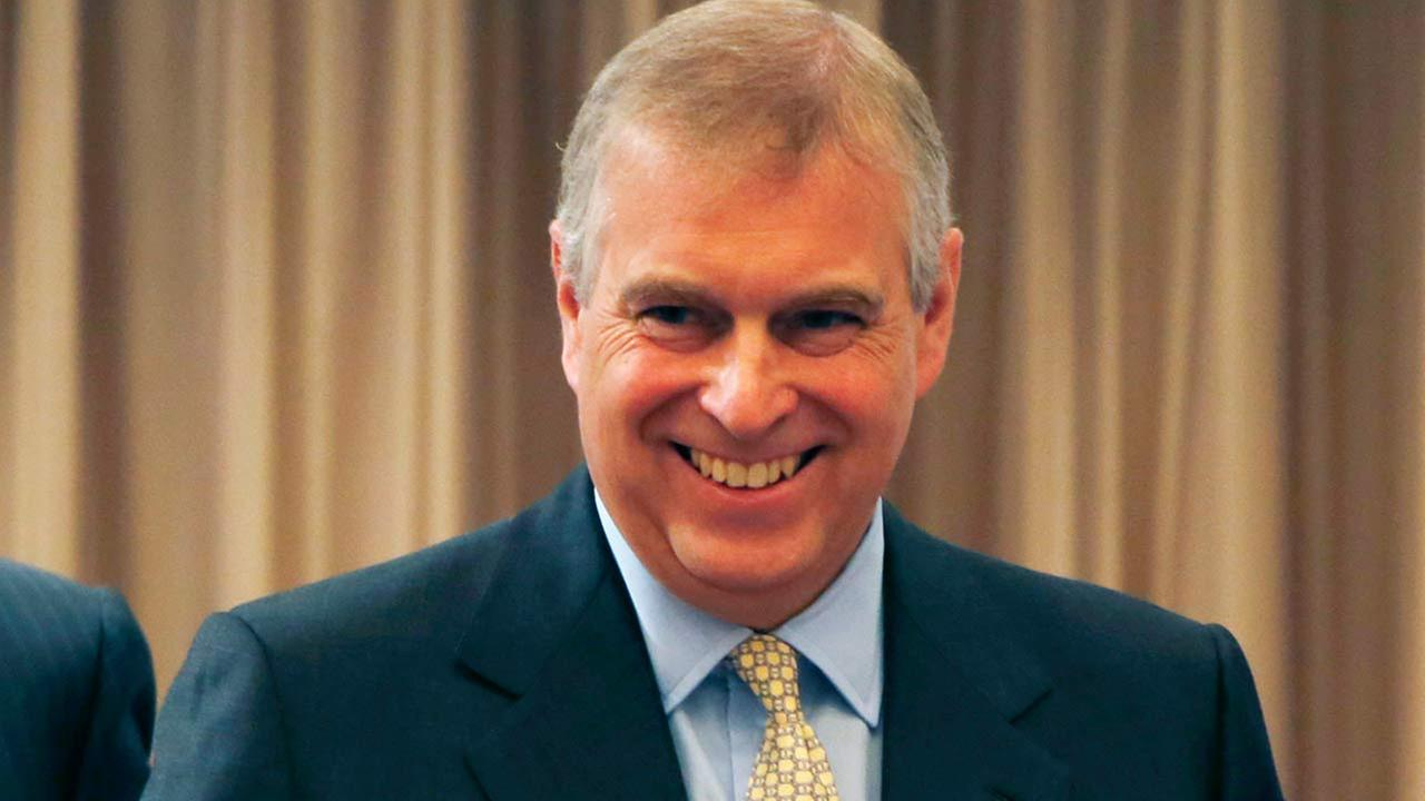 Britains Prince Andrew, the Duke of York, smiles after delivering the keynote speech of the Japan-UK security cooperation conference in Tokyo.