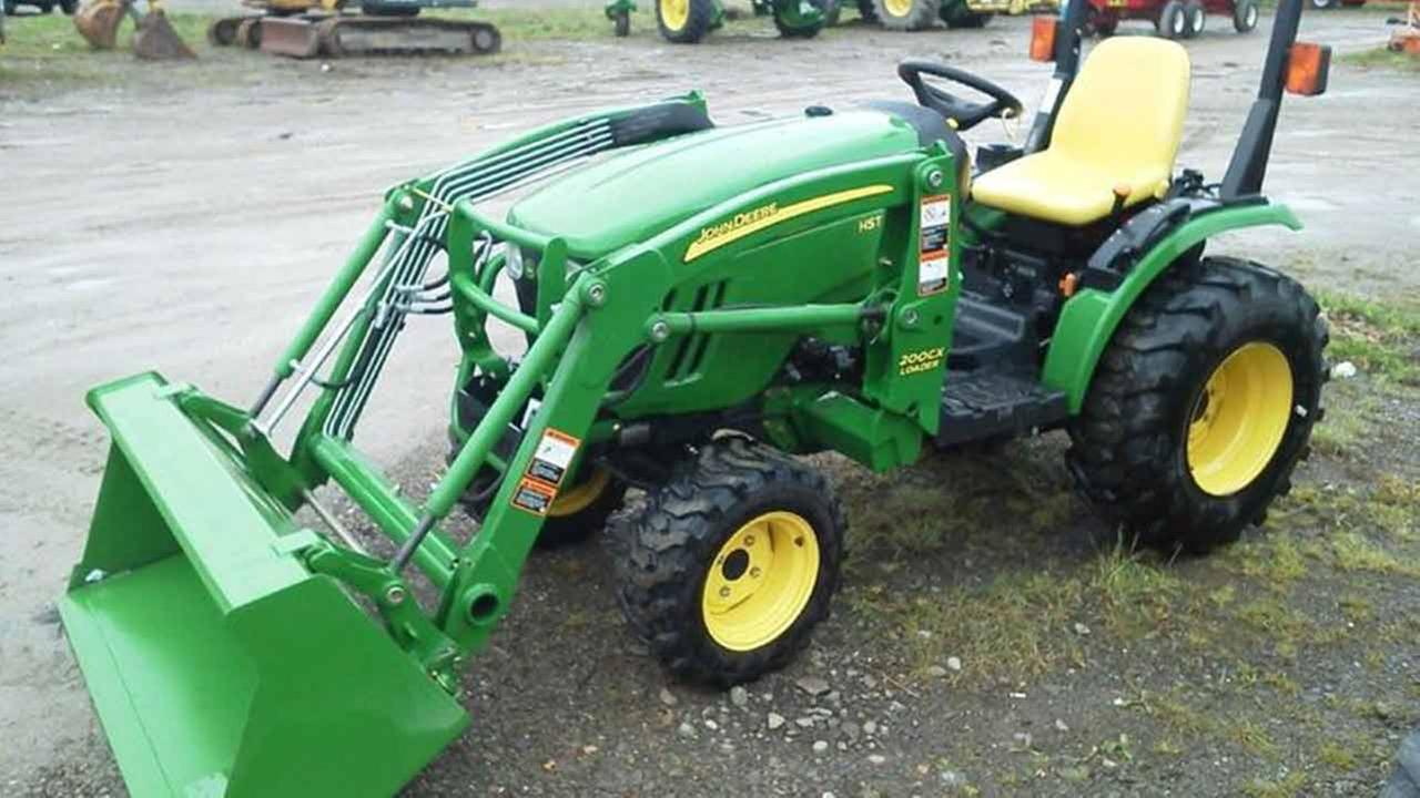 A John Deere tractor owned by the City of Cleveland was stolen from the new municipal park during the New Years holiday.