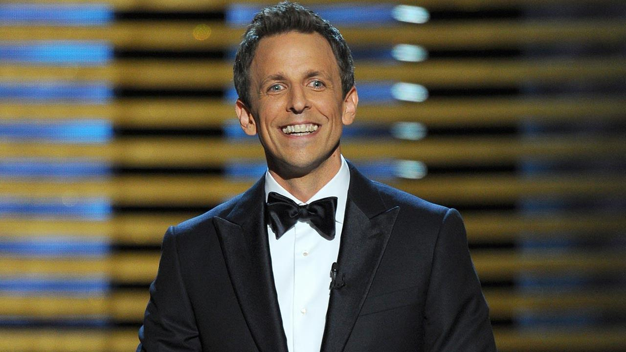 Host Seth Meyers speaks on stage at the 66th Primetime Emmy Awards at the Nokia Theatre L.A. Live on Monday, Aug. 25, 2014, in Los Angeles.
