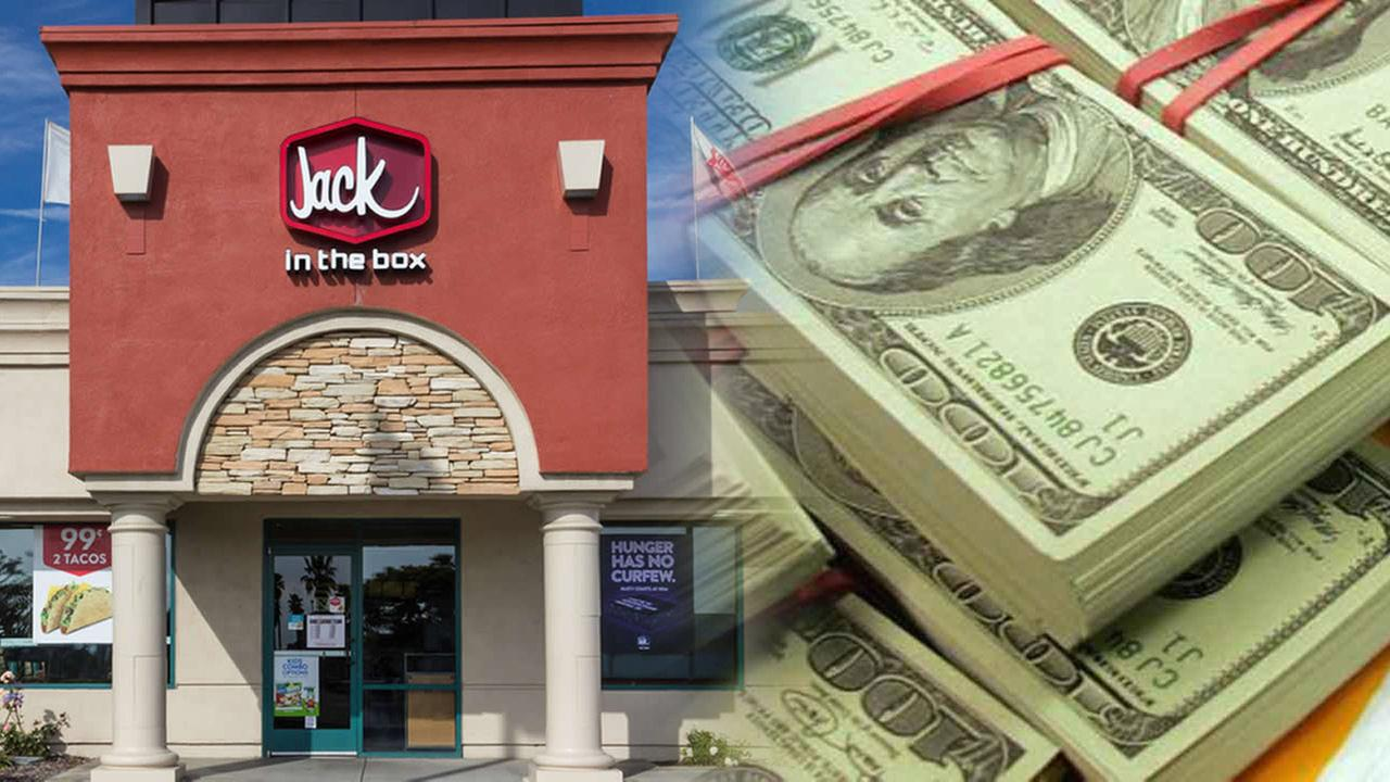 jack in the box and money
