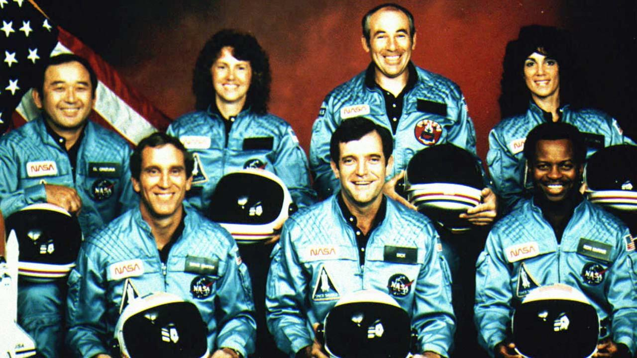 File picture from January 28, 1986, shows the crew of space shuttle Challenger.