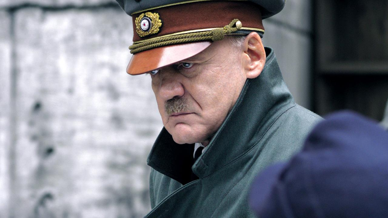 In this 2004 film publicity image released by Constantin Films, Swiss actor Bruno Ganz is seen as Adolf Hitler in the movie Der Untergang (The Downfall).