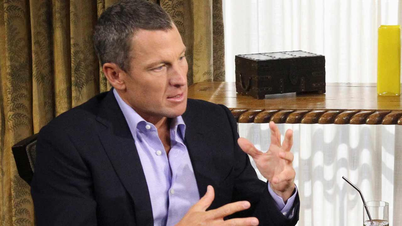 In this Monday, Jan. 14, 2013, file photo provided by Harpo Studios Inc., Lance Armstrong appears on a taping for the show Oprah and Lance Armstrong.