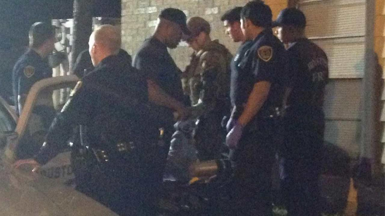 A police standoff ends with man in custody in north Houston.