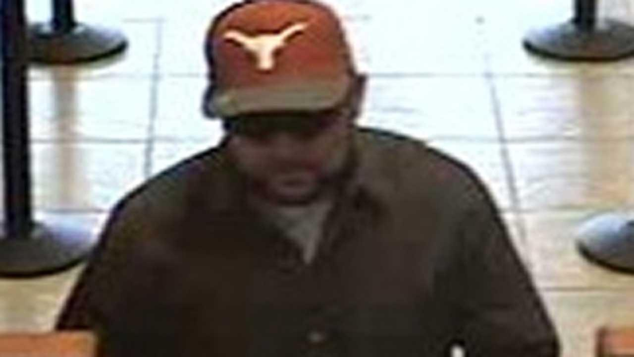 This is a still image from surveillance video of the bank robbery suspect the FBI dubbed as the Longhorn Bandit