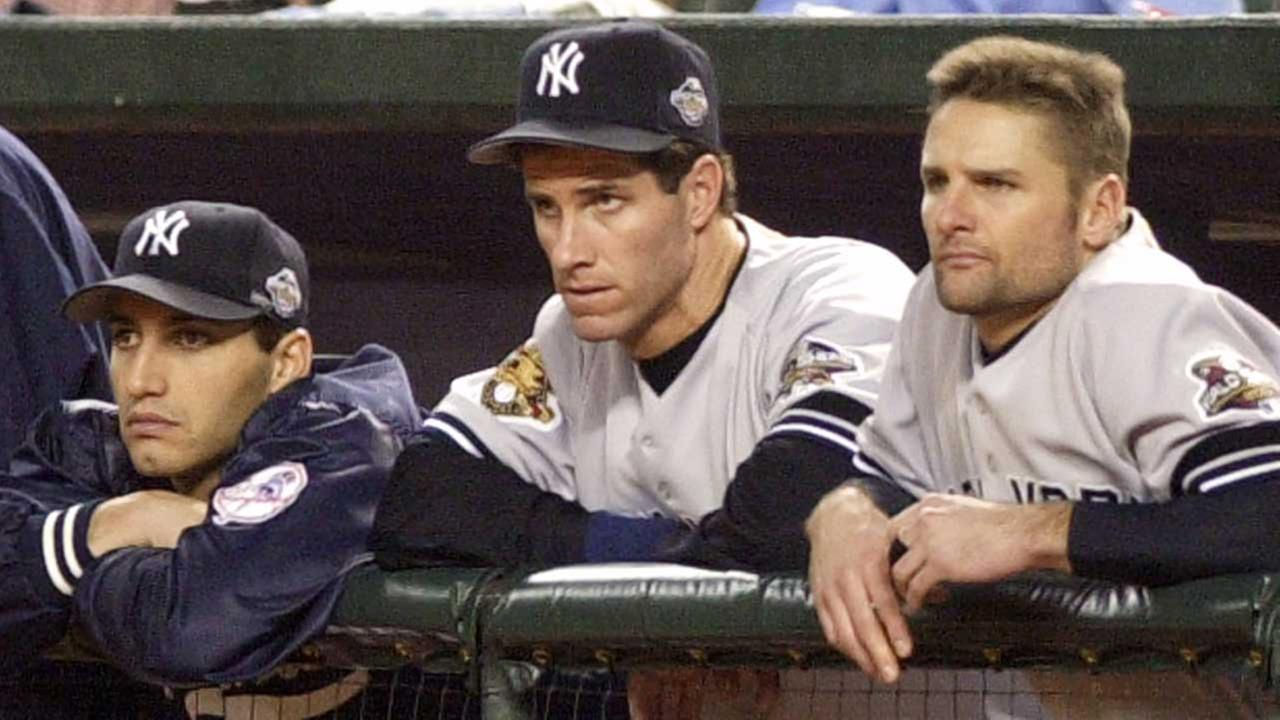 Andy Pettitte, left, will have his number retired by the New York Yankees. Chuck Knoblaugh, right, took a shot on Twitter at his former teammate