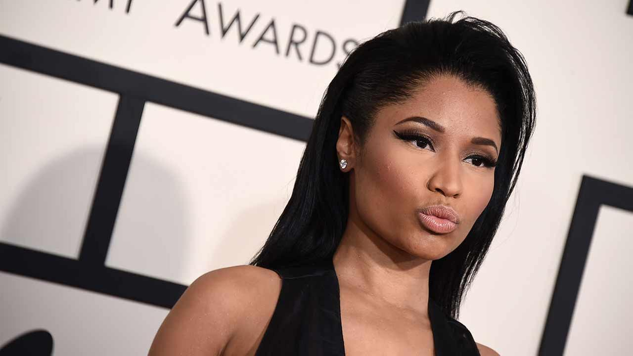 Nicki Minaj arrives at the 57th annual Grammy Awards at the Staples Center on Sunday, Feb. 8, 2015, in Los Angeles.