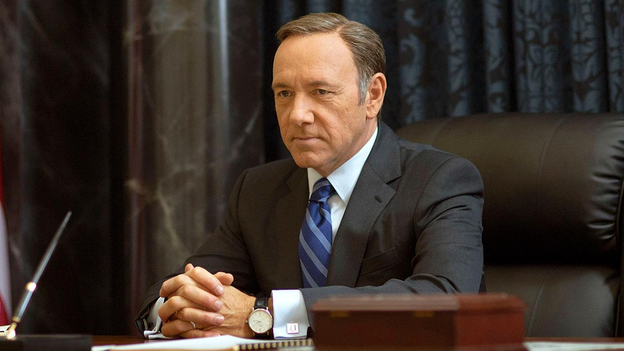 Kevin Spacey as Francis Underwood in a scene from House of Cards.