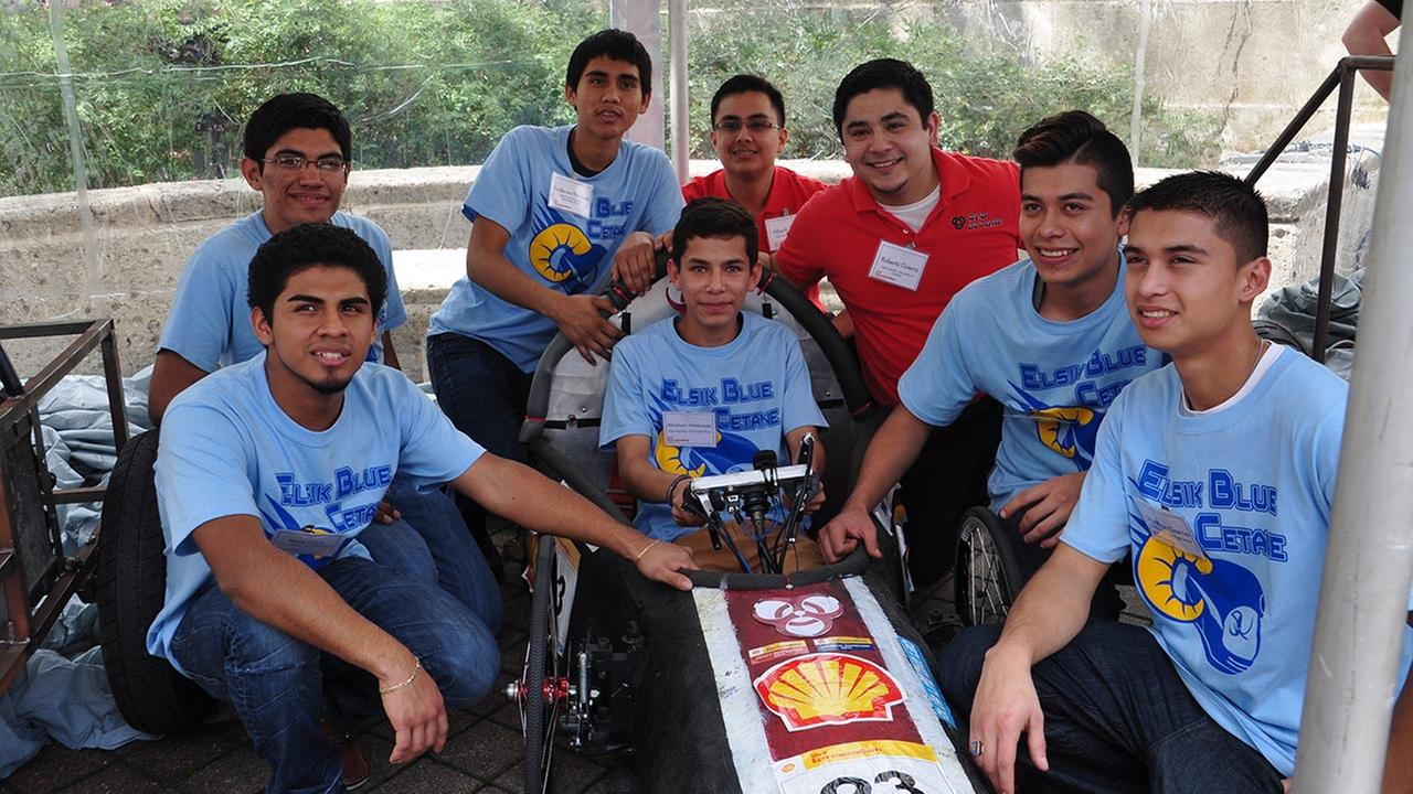 Local students competing in Shell Eco-marathon Americas with fuel efficient cars