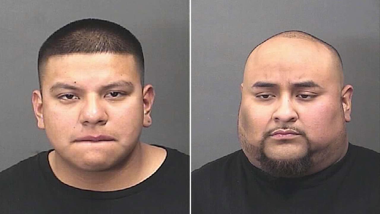 Richard Gonzalez, left, and Valentin Jose Lazo, Jr.