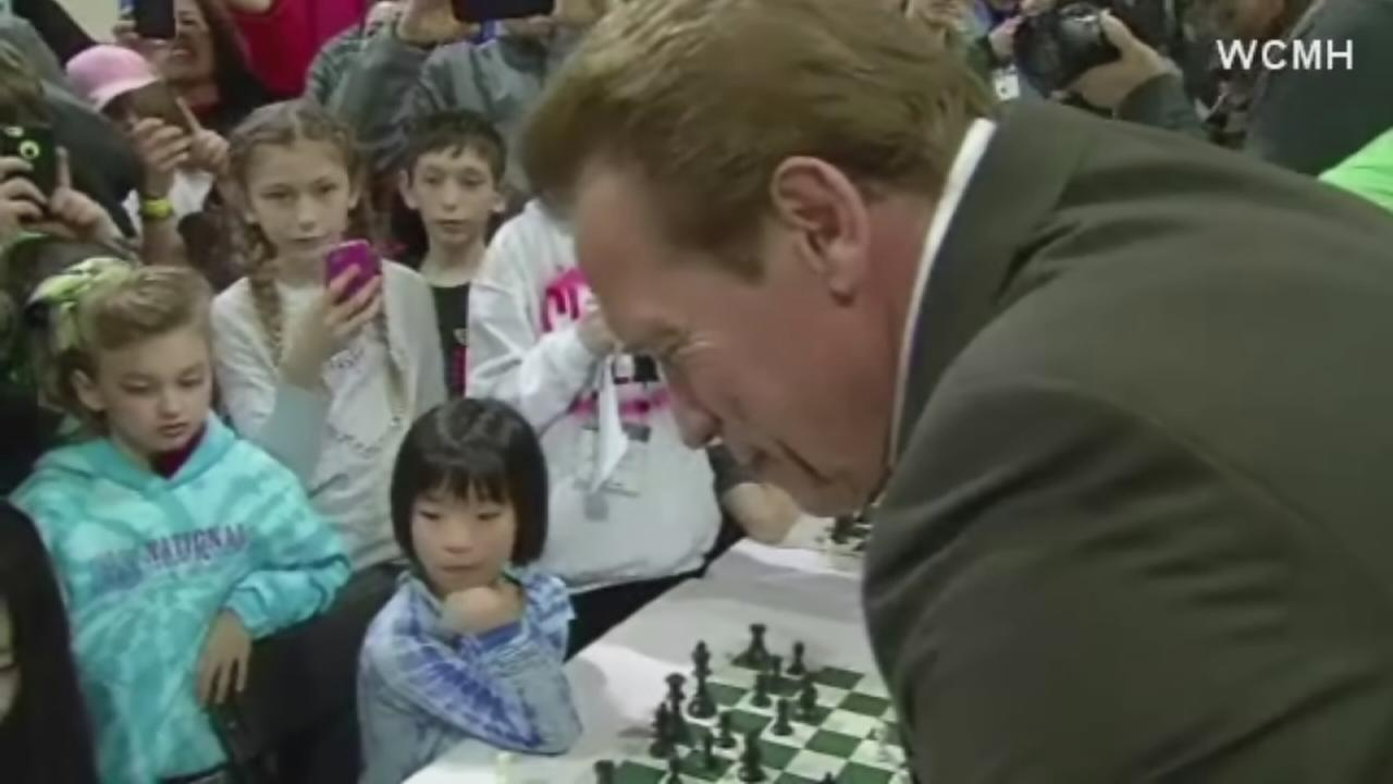 8 year old plays chess with Terminator