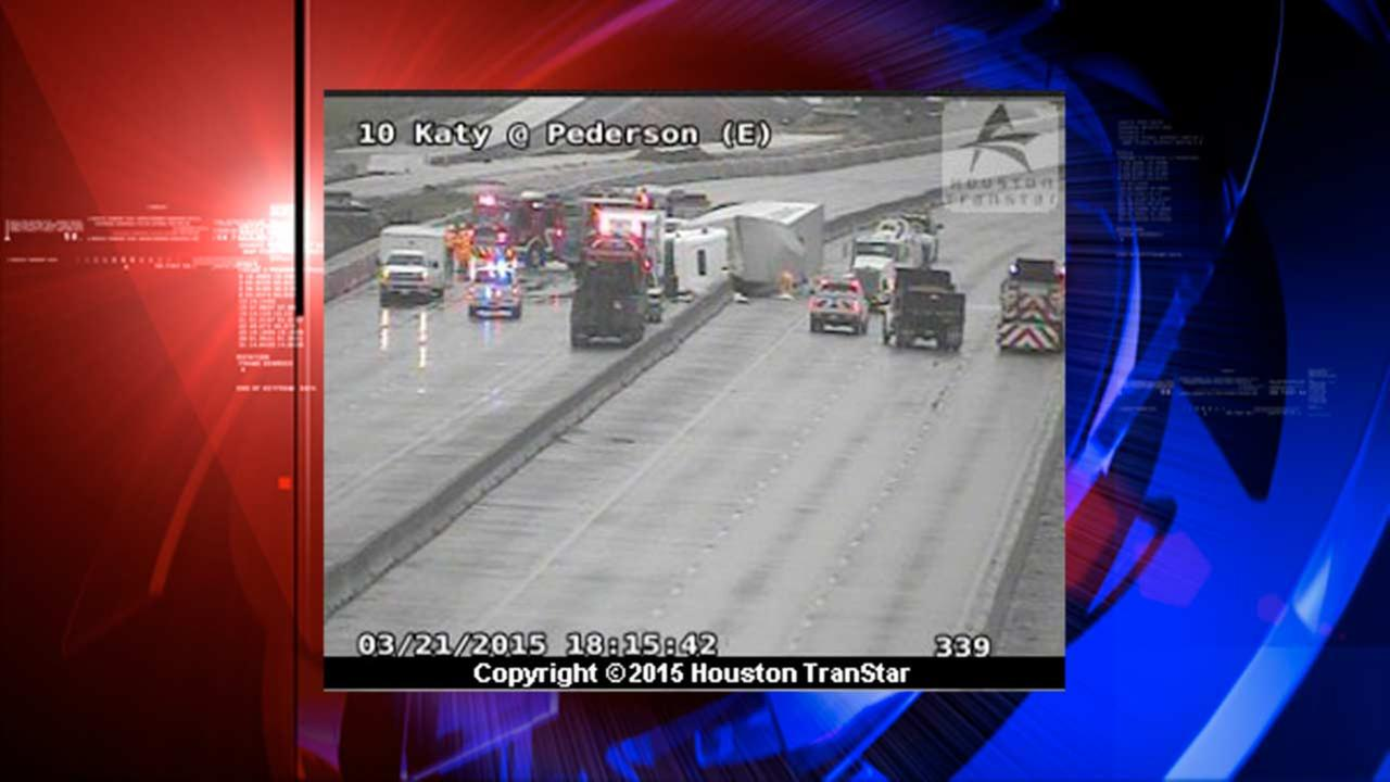 I-10 reopens at Pederson Road following big rig accident