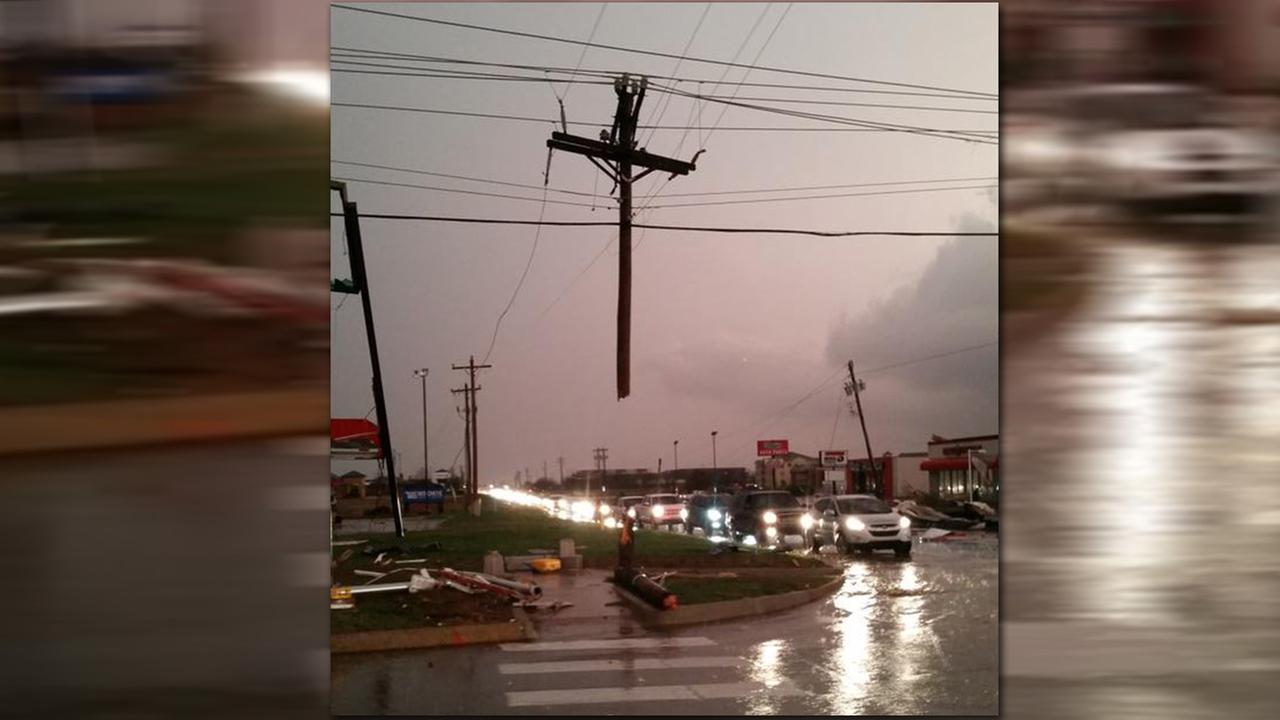 Cross in storm damage