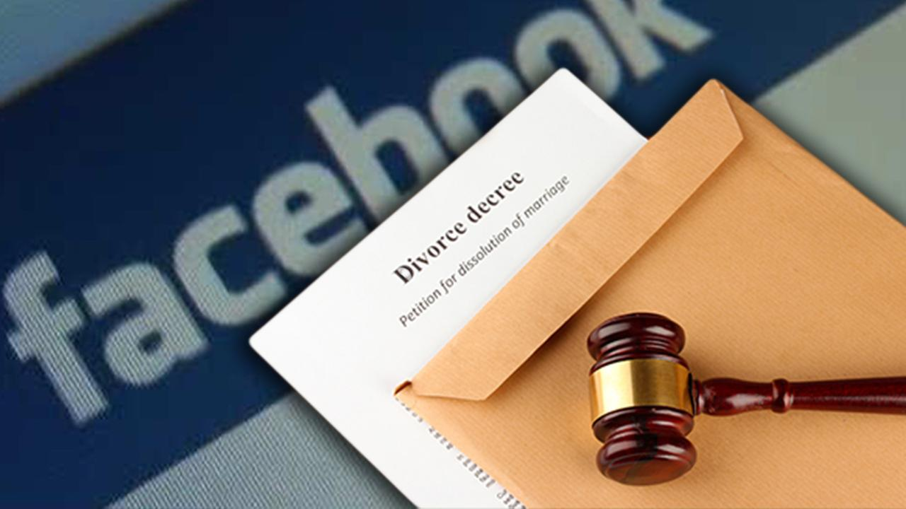Facebook and divorce papers