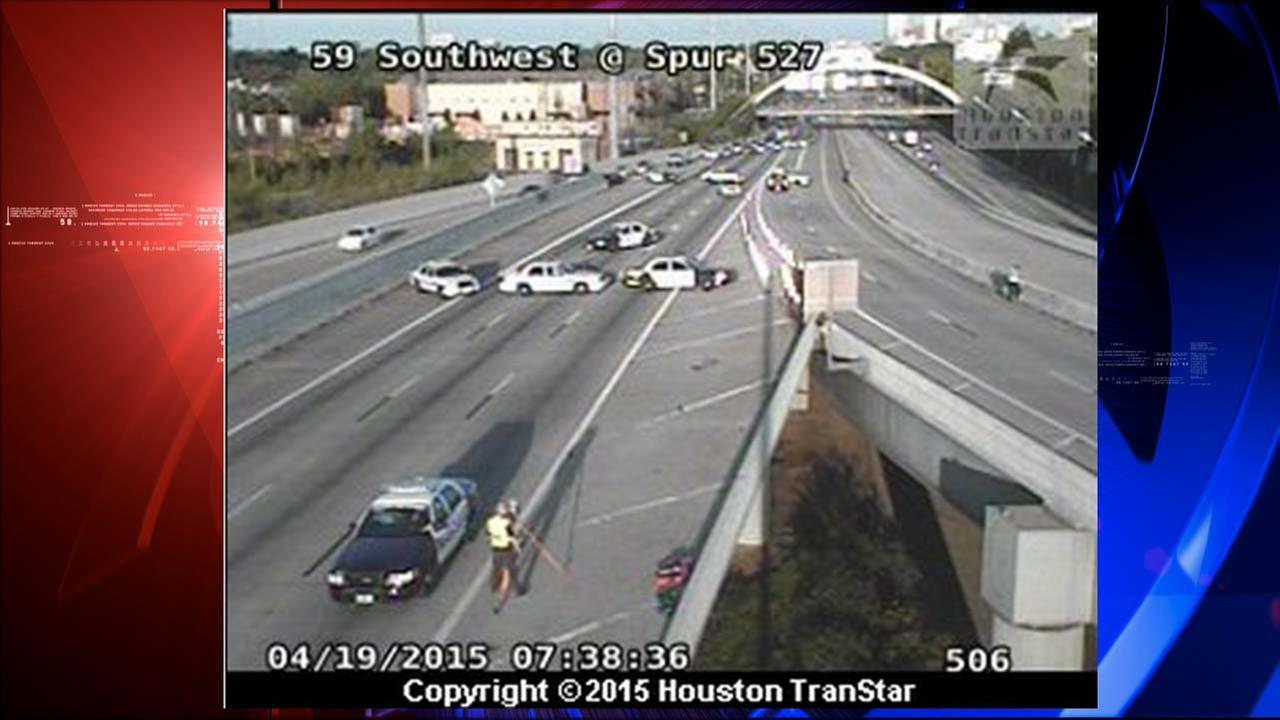 Motorcyclist in critical condition after accident on Southwest Freeway